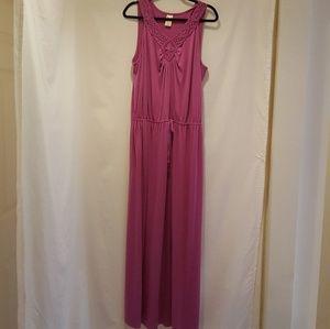 Faded Glory Cute Lavendar Maxi Dress